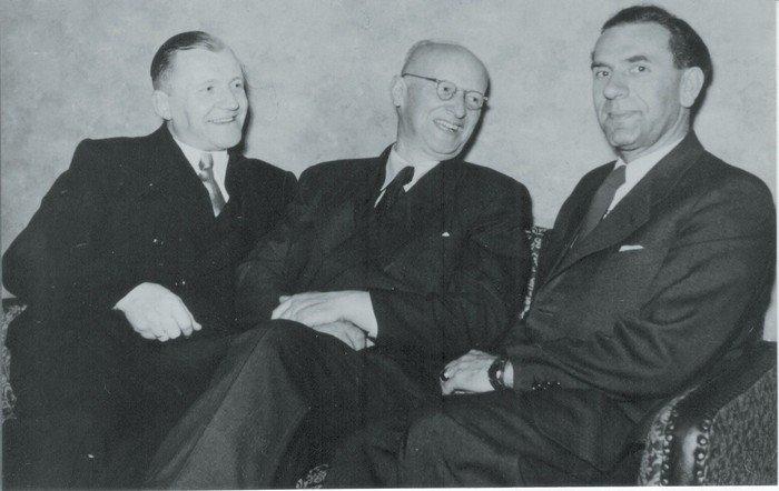 Drei Pfarrer an der Hochmeisterkirche: Heinz Jensch, Friedrich Zunkel und Arthur Borchers (v.l.n.r.)