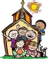 Børn læser tekster og beder nogle af bønnerne