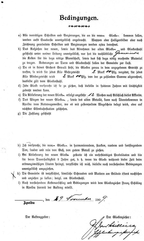 Abb. 2  Kostenanschlag der Bronzegießerei Schilling/Apolda vom 29.11.1909