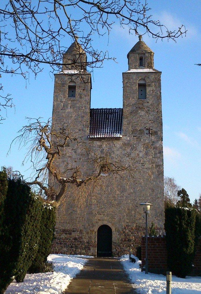 Kirken om vinteren