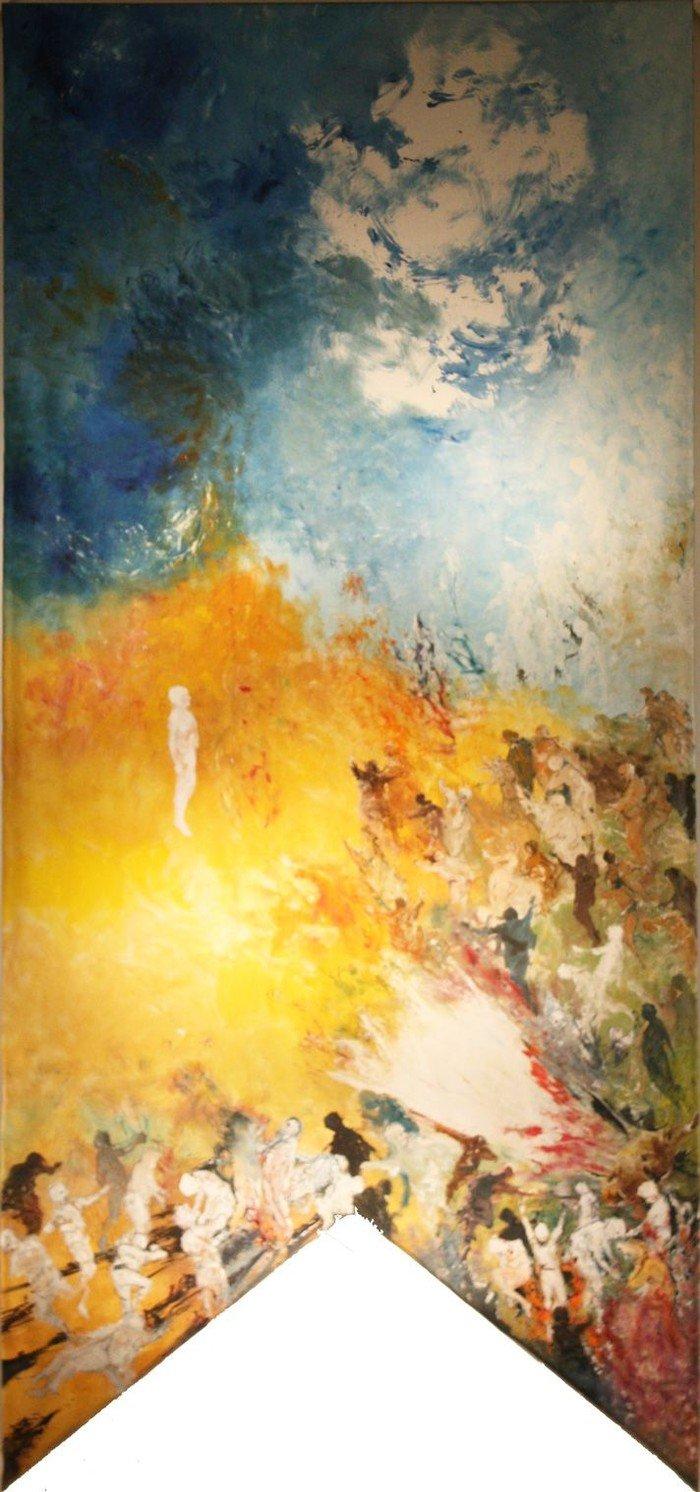 Altarbild von Dominique Rebourgeon: Ostern und die Auferstehung der Toten - Die Zeit und der Ort