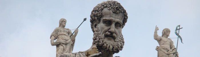 I Rom står Peters kirke, den gigantiske Peters kirke (Peters figur)