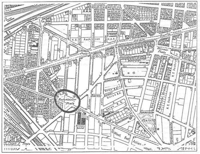 Bebauung in Halensee um 1909