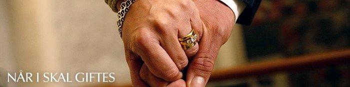 To hænder med ringe