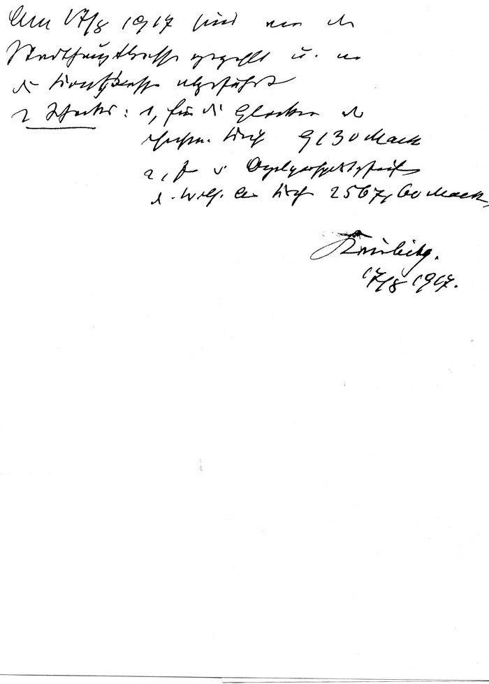 Abb. 3  Handschriftliche Notiz über die Ablieferung der Bronzeglocken