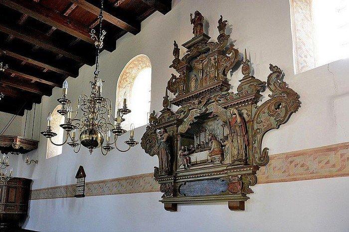 Billedskærer Lorentz Jørgensens altertavle 1650-75.