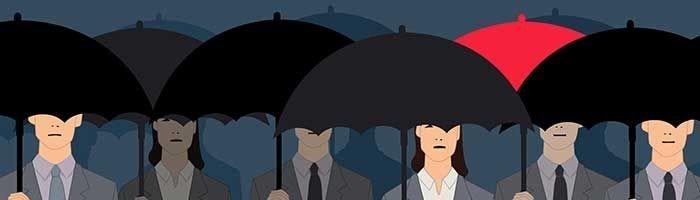 Illustration af folk med parably