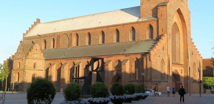 de fem vestlige fag Odense Domkirke
