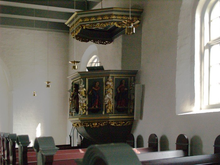 Den nuværende prædikestol