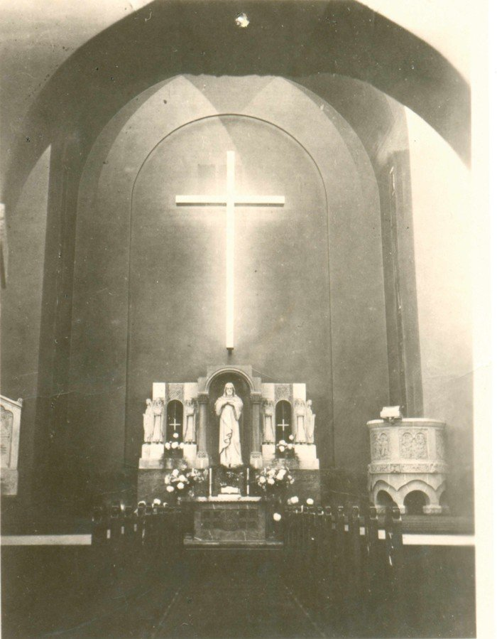 Nach der Entfernung des Altarbildes