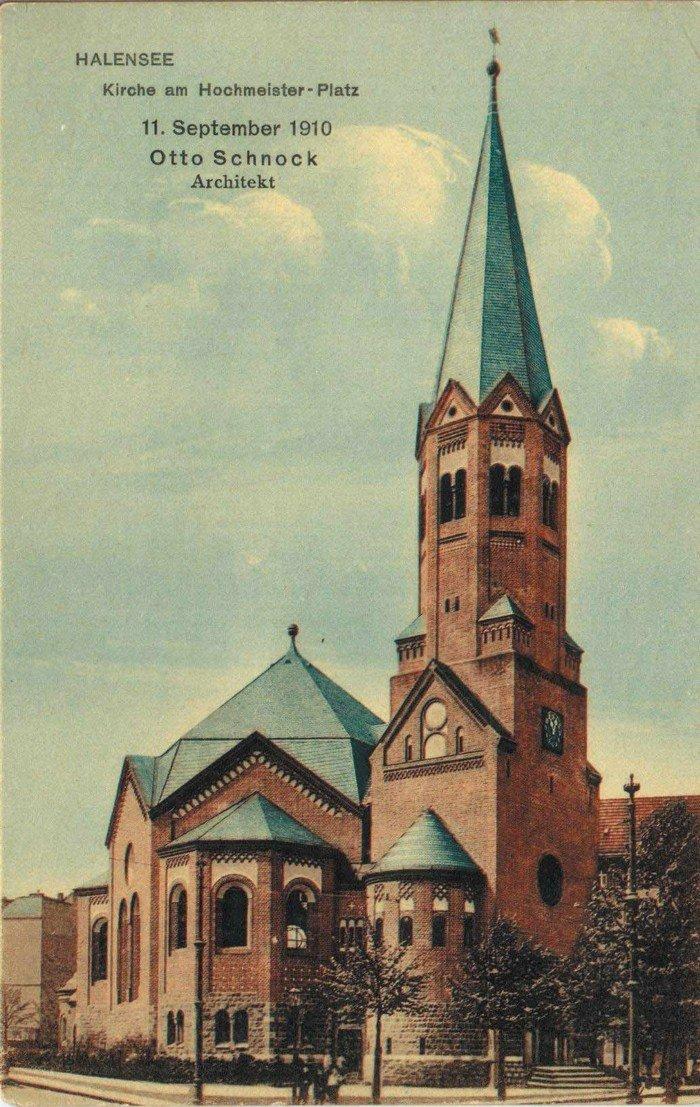 Postkarte zur Einweihung am 11.9.1910