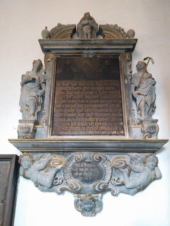 epitafie fra kirken