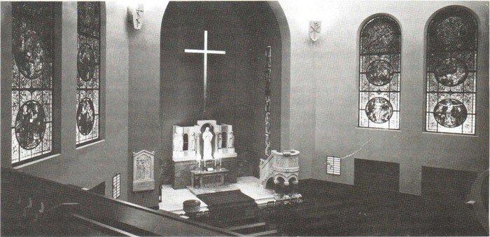 Altarraum der Hochmeisterkirche nach dem Umbau von 1935