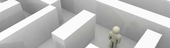 Illustration af en labyrint