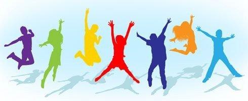Dansende unge mennesker