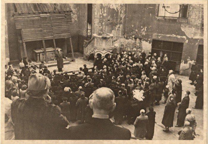 1. Advent 1953: Feier zum Begin des Wiederaufbaus