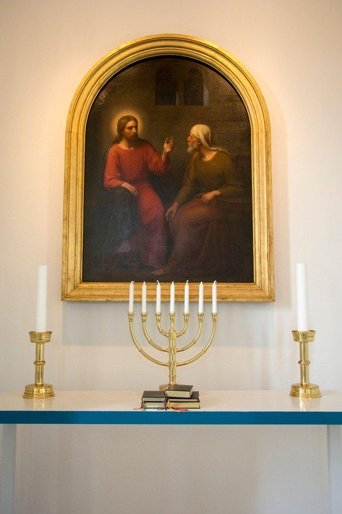 Kunstværk: Kristus og Nikodemus.