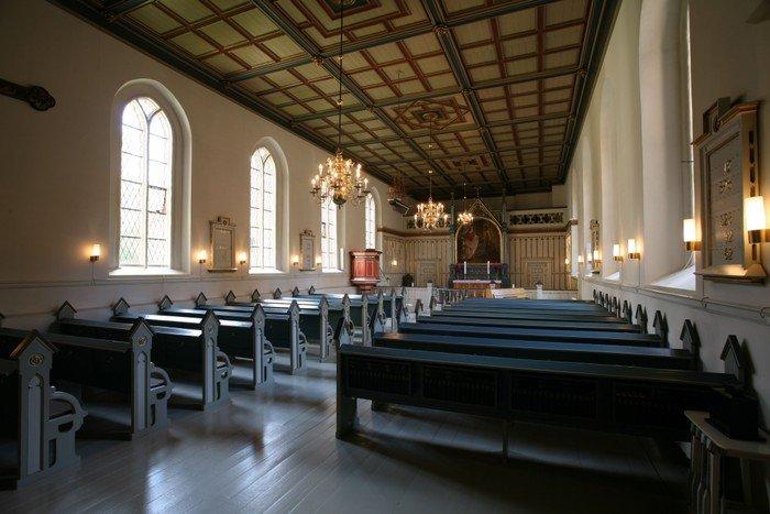 Graabrødre Kloster KIrke indefra
