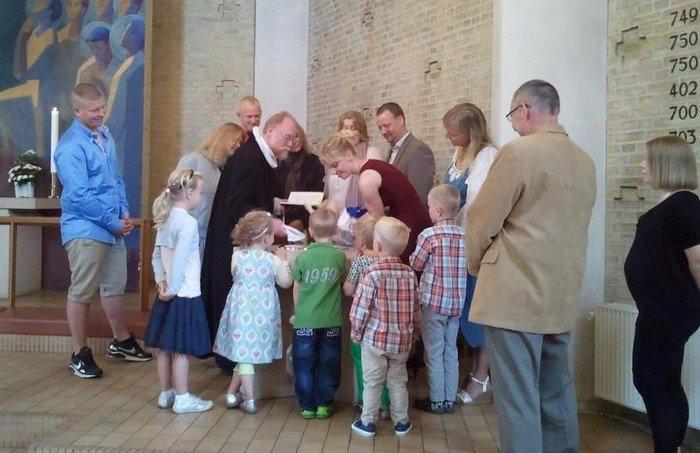 Dåb i Hyltebjerg Kirke