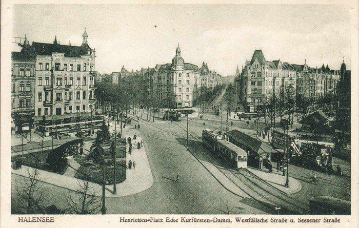 Blick vom Henrietttenplatz in die Westfälische Straße - Postkarte um 1910