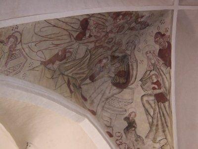 Kalkmaleri, Den Hellige Familie