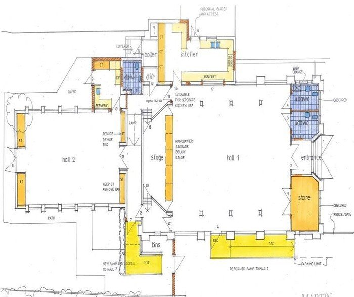 Church Hall plans