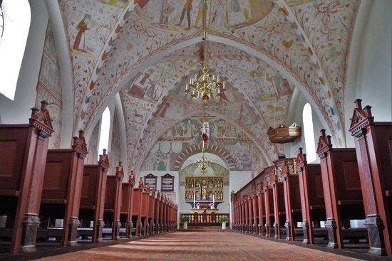 En udflugt gik til Nyord/Møn og Elmelunde Kirke