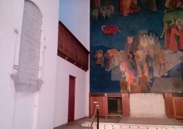 Prædikestol taget ned