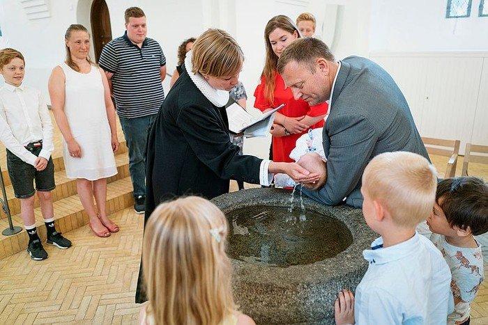 Billede af dåb