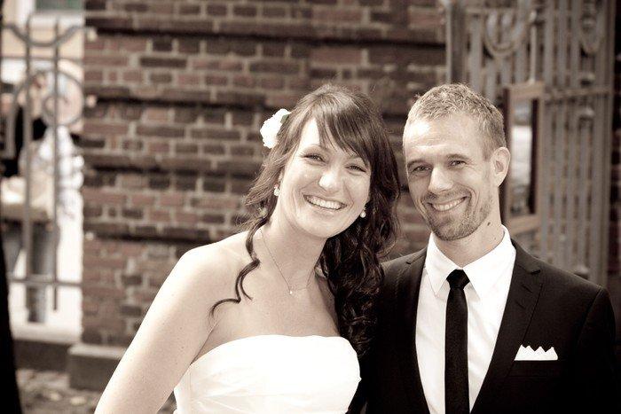 Brudepar ved Vor Frelsers Kirke