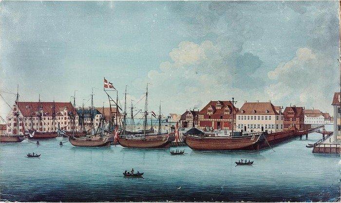 Maleri af H.W. von Haffner: Wilders Plads, 1776