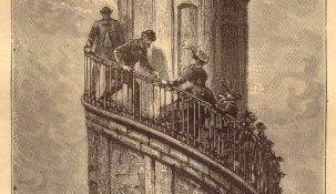 Illustration fra En rejse til jordens indre af Jules Verne