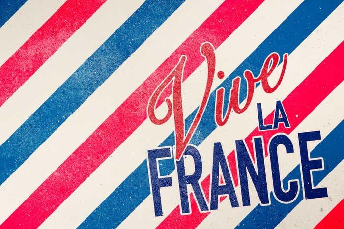 "Illustration med ""Vive la France"""