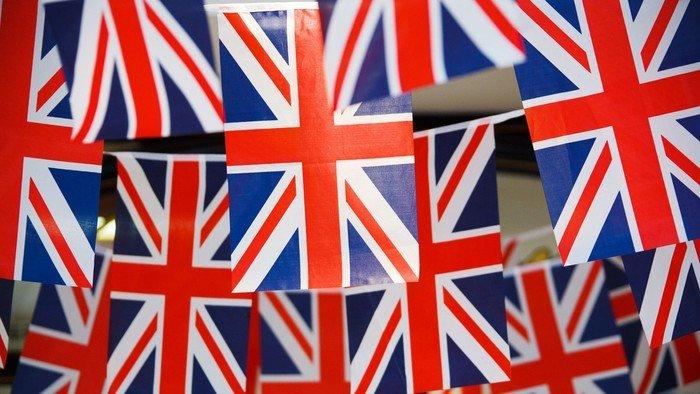 En masse engelske flag