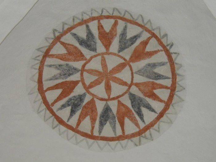 Kalkmaleri - solsymbol