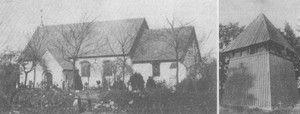 Bov Kirke før 1905, uden tårn