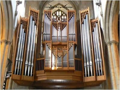 Photo of our Collins organ