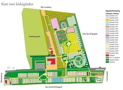 Kort over Tønder Kirkegård
