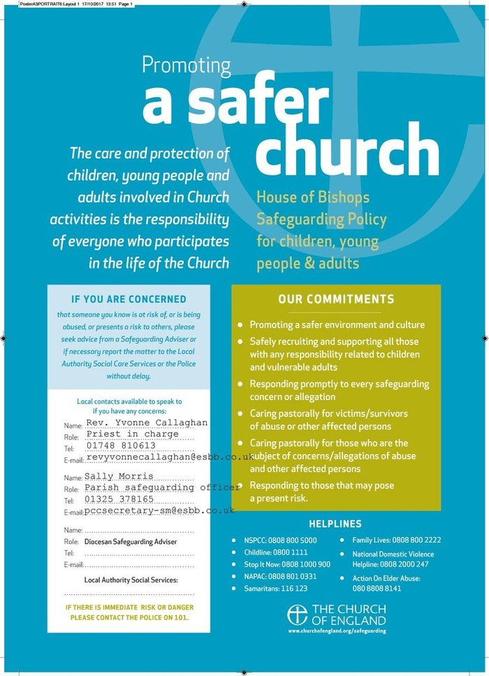 Promoting safer church poster