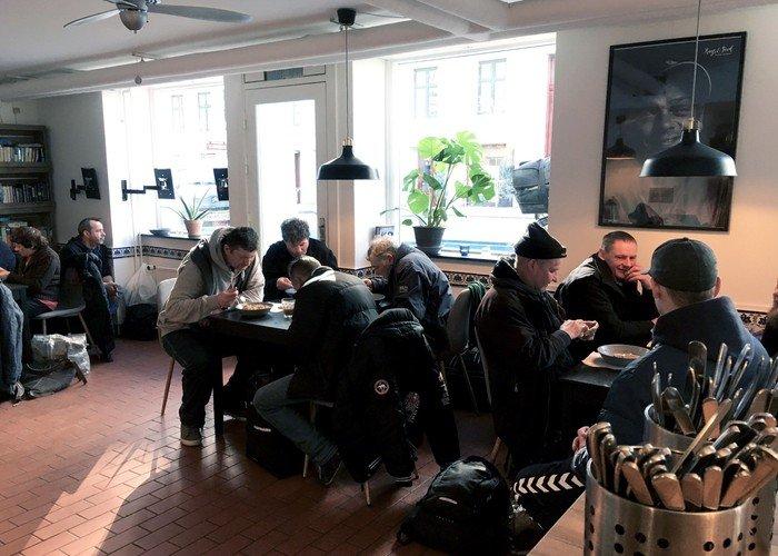 Billede fra Hugs & Foods lokaler i Nansensgade i København