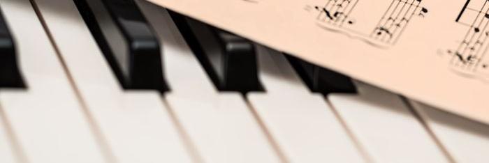 Klaver tangenter med nodeblad