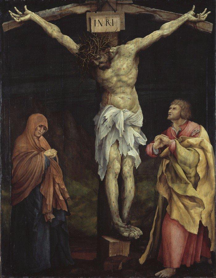 Tauberbischofsheimer Altar, Christus am Kreuz zwischen Maria und Johannes, Matthias Grünewald