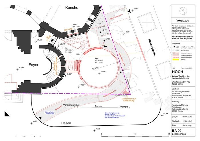 Pavillon und Keller 2019 - Nedelykov Moreira  Architekten (EG)