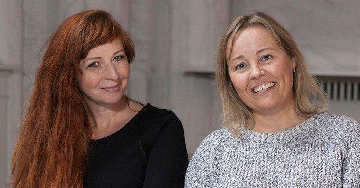 Sognepræst Louise Britze Kijne (tv) og sognepræst Marie Jacobsen Damm (th).