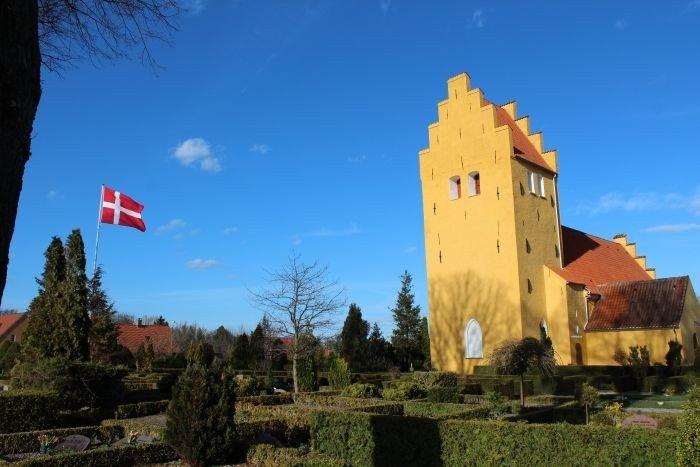 Bjæverskov kirkegård set fra det nordvestlige hjørne