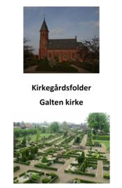 Billede af Galten Kirkes kirkegårdsfolder.