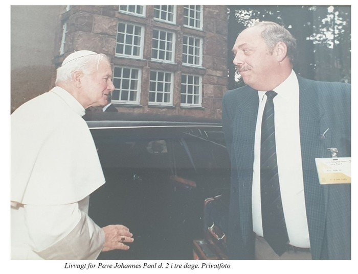 Privatfoto Vilhelm Georg Jensen og Pace Joh Paul II