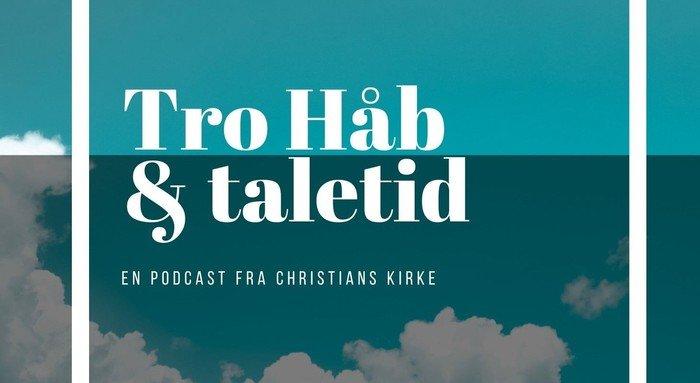 Podcastlogo tro håb og taletid