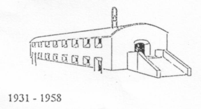 Stregtegning af kryptkirken