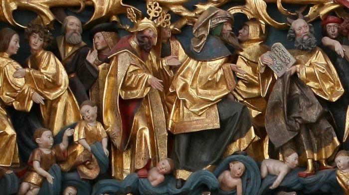 udsnit af Claus Bergs altertavle